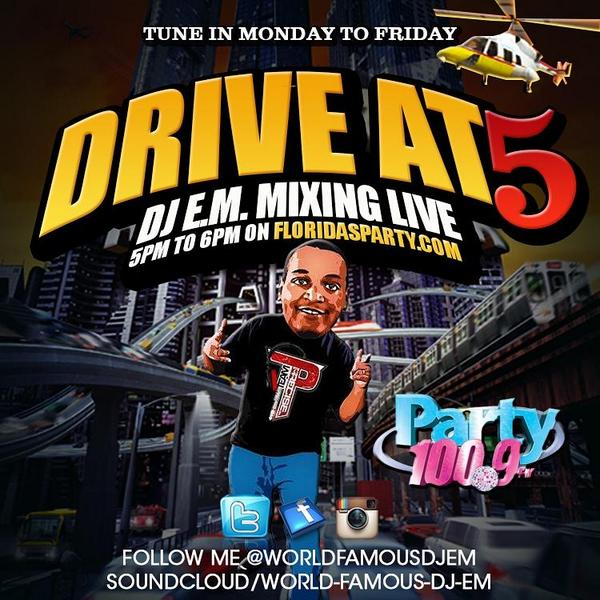 DJ E.M. - Friday Night House Party - on Pary 100.9Fm www.floridasparty.com